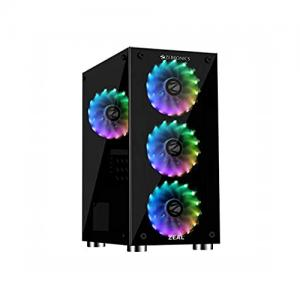 Zebronics Zeb 876B Zeal Gaming Chassis Cabinet price in Hyderabad, telangana, andhra